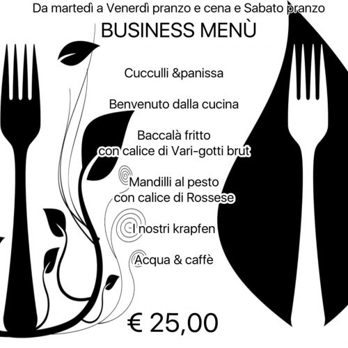 business menu